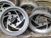 "Set of 4 wheels for sale. 6 lug (6 x 5.5""), 15"" wheels."