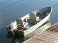 12 foot 1968 Sea King aluminum rowboat with a 1964
