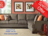 Add a simple and slightly retro sectional to your home