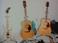 Far left: Dana Signature Alvarez Electric guitar. Mint