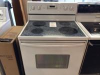 Kenmore White Smooth Top Range Stove Oven Used For Sale