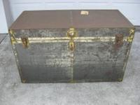 This is a great, antique 100% cedar lined chest/trunk