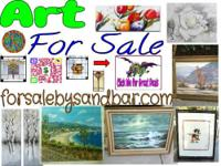 Large collection of art for sale. Famous Artists and