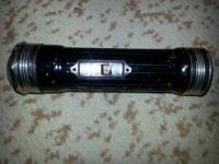 This amazing art deco styled Burgess flashlight is a