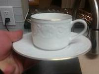 Upscale dinnerware, used once, beautiful 1998