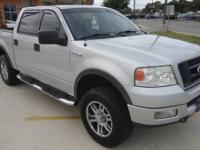 TOUGH 2004 FORD F150 CREW CAB FX4 4X4  ONLY 117K MILES/