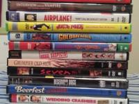 11 DVD movies ranging from comedy, action, horror etc.