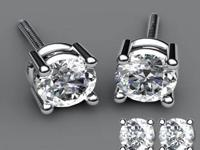 Amazing Round Diamond Studs Available in all sizes For