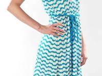 This is a white and blue stripped summer tank dress. It