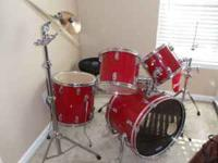 GREAT CHRISTMAS PRESENT!!! Ludwig 5 piece drumset with