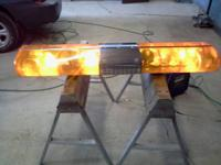 for sale amber lightbar all lights work , size is