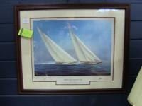 """Yachts of the Americas - J Class Clip"" print, signed"