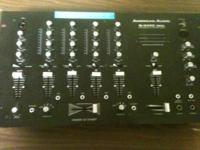 This is an American Audio pre-amp mixing board. Model
