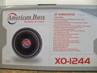 I have American Bass 12 inch subs XO-1244. These subs