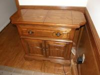 This American Drew piece is solid oak and is good
