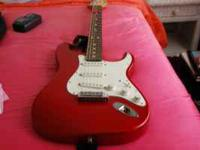 1991 Candy Apple Red American Fender Stratocaster with