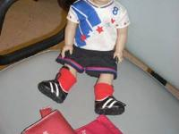 American girl doll of today soccer player $65 we also