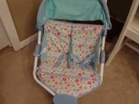AMERICAN GIRL BITTY BABY SIDE BY SIDE DOUBLE STROLLER.