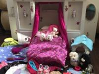 American Girl Murphy Bed and all accessories pictured