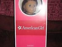 Retired! American Girl Saige Doll complete size New in