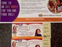 I have 2 tickets to the American Girl sale in Madison,
