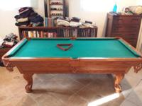 American Heritage. 7 ft pool table. Legs easily go over