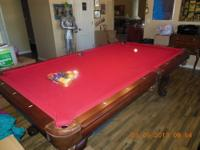 1 YEAR OLD AMERICAN HERITAGE POOL TABLE .REGULATION