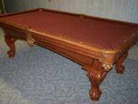 American Heritage 8' Pool Table in excellent condition.