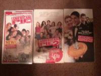 FOR SALE: VHS copies of American Pie, American Pie 2,