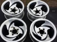 For sale a set of 4 utilized american racing rims AR39.