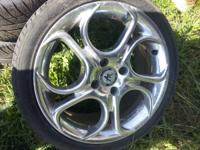Hi im selling four 205/40/16 like new tires on AR rims