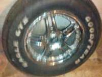 we have a set of 4 american racing rims and tires with