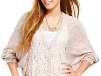 Go big in a lovely cardigan that flaunts dainty lace