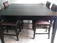 - Counter Height Dinning Table - 6 Chairs - Great