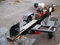 brand new american wood splitter. demo unit with 1 tank