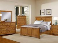 Oak Panel Bed. Made in America by Vaughn-Bassett. On