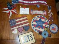 I have for sale a variety of Americana decorations, key