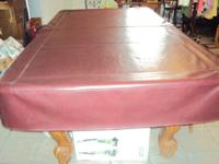 This is an 8' AMF Playmaster POOL TABLE with a 1""