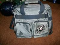 AMF Single Bowling Bag Gray & Black With Shoulder Strap