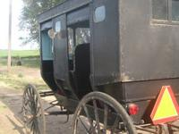 Beautiful Amish Buggy ready to roll.. lights, mirrors,