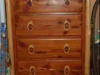 "Beautiful dresser. 56""H x 40""W x 21""D. You may either"
