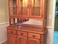 Amish made china cabinet, excellent condition. Solid