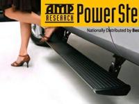 Black amp research auto steps for qaudcab truck Great
