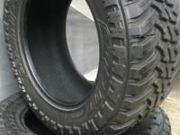 Four (4) AMP Terrain Master M/T, Mud Tires,