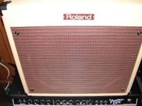amp guitar roland blues cube blonde tolex 30 watts 1 12