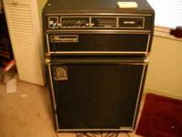 I have a Ampeg SVT-350H head and 4x10 Classic series
