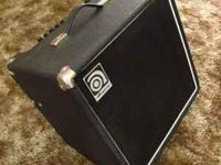 I have this Ampeg BA-112 bass amp that I used only for