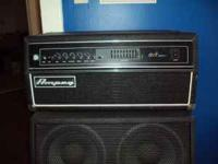 Up for sale is a used Ampeg SVT-350h. The unit is clean
