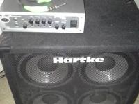 Head and cab for bass   Ampeg porta flex and hartke 4