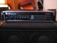 Mid 90's Ampeg SVT 3 Pro Bass amplifier. Blue and red